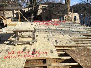 Main Level Deck Installation (looking north toward neighbor) - Modern Lakeside Retreat - Grandview Lake - Columbus, Indiana