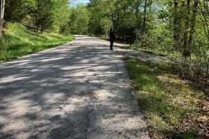 Grandview Drive Access to Site - Modern Lakeside Retreat - Grandview Lake - Columbus, Indiana