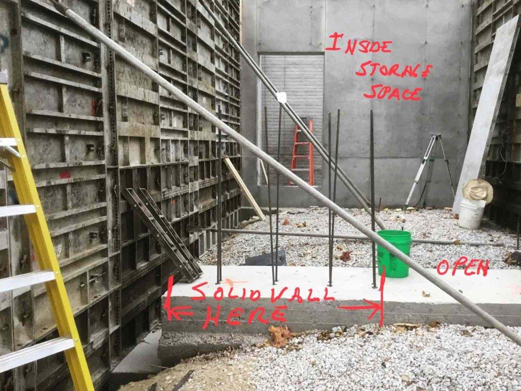 Side Storage Porch Foundation Wall Progress - Modern Lakeside Retreat - Grandview Lake - Columbus, Indiana