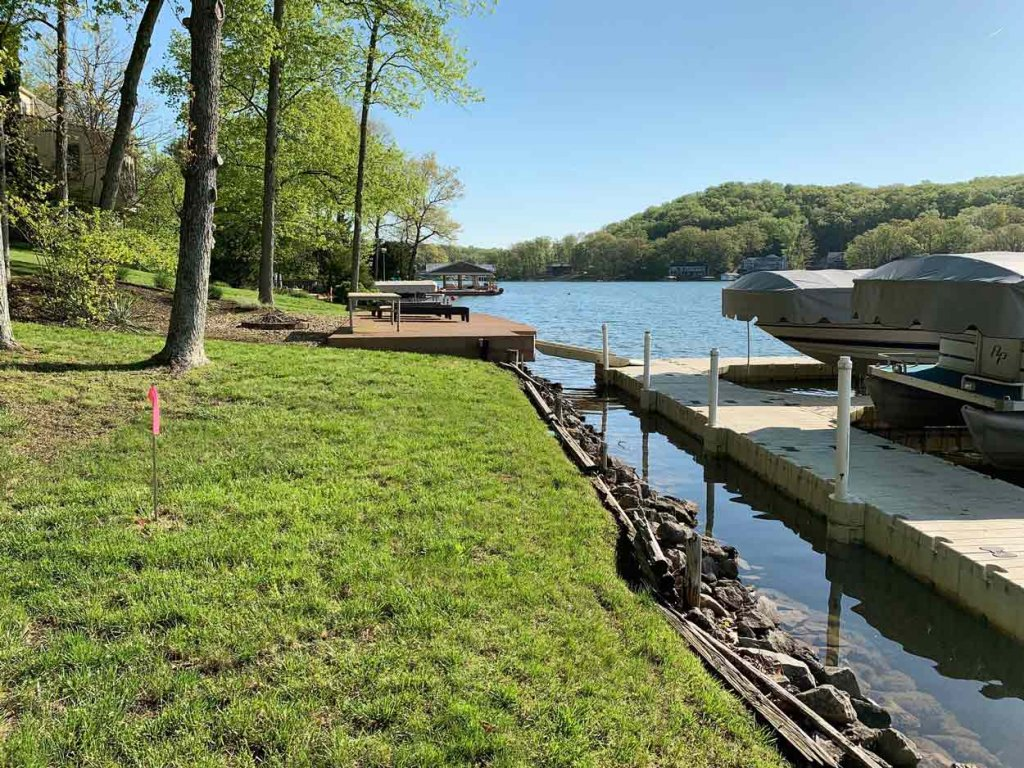 Lakefront, Decks and Dock (PreConstruction) - Modern Lakeside Retreat - Grandview Lake - Columbus, Indiana