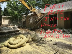 Existing House Demolition Begins - Modern Lakeside Retreat - Grandview Lake - Columbus, Indiana