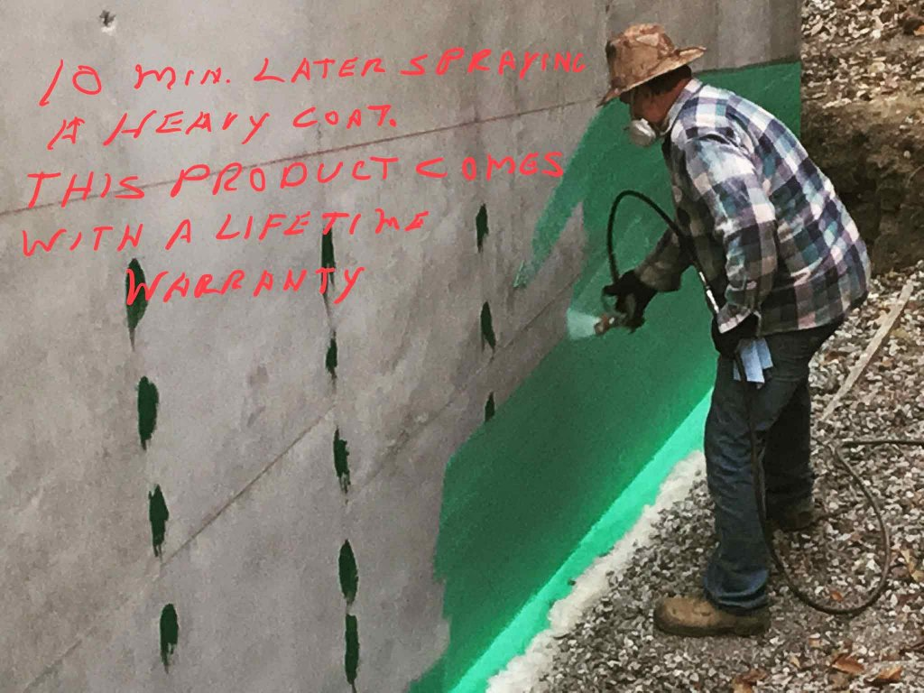 Foundation Wall Waterproofing Installation (Rubberwall) - Modern Lakeside Retreat - Grandview Lake - Columbus, Indiana