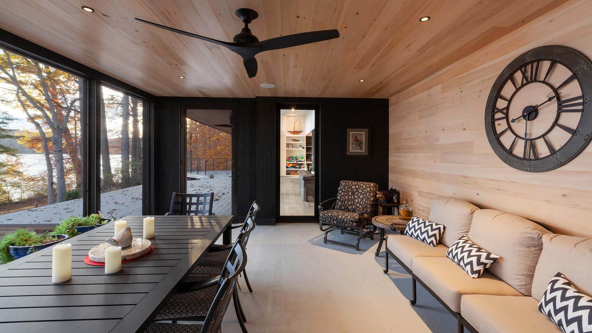 Screened Porch Elevation - Lakeside Modern Cottage (H-LODGE) - Unionville, Indiana, Lake Lemon